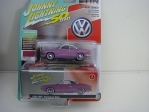 Volkswagen Karmann Ghia 1964 Pop Lilac with Storage Tin 1:64 Johny Lightning